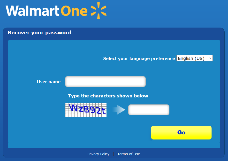 reset walmartone password