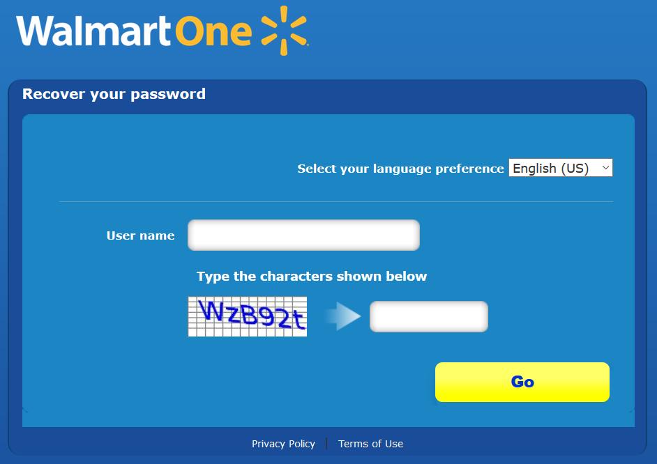 reset walmartone password