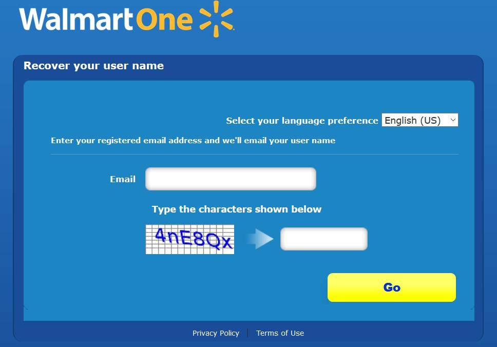 recover walmartone user id